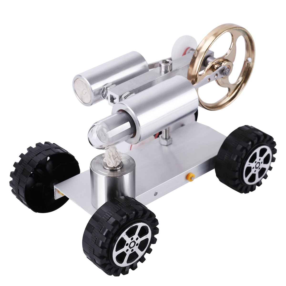NASHRIO Stirling Heat Engine Model Car Kit Hot Air Educational Toy - Conversion of Heat Energy to Mechanical Work