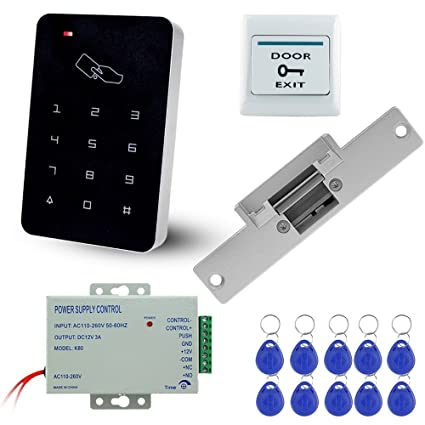 libo full rfid access control system kit set stand along keypad with