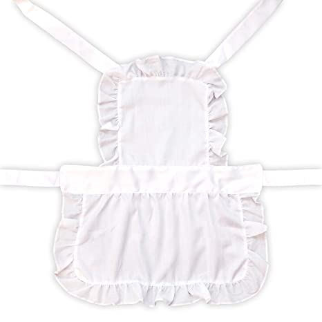 by Robelli Kids White Victorian Full Length Fancy Dress Apron
