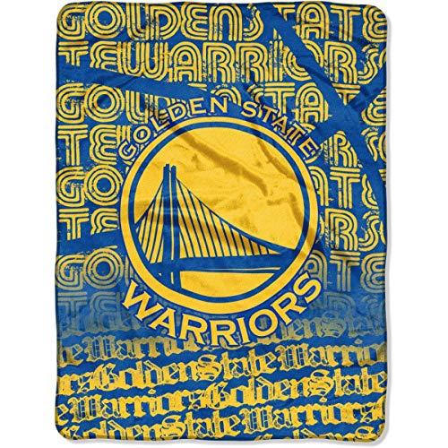 The Northwest Company NBA Golden State Warriors Redux Micro Raschel Throw, Yellow, 46 x 60 ()