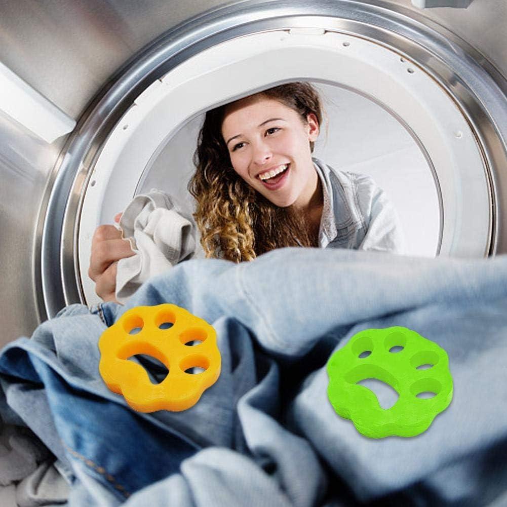 Haustierhaarentfernungspad Trockner 2 St/ück Haustierhaar-Kleidung WXGY Reinigungsball Waschmaschinen-Enthaarer Haarentferner
