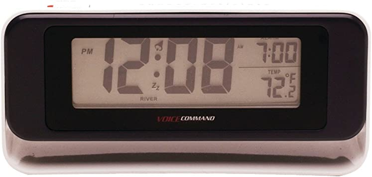 Amazon.com: Equity by La Crosse 60902 Shadow Box LCD Alarm Clock with Voice  Command (Discontinued by Manufacturer): Home Audio & Theater