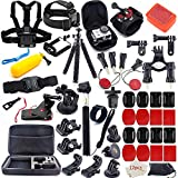 MOUNTDOG 65-in-1 Action Camera Accessories Kit for GoPro Hero 7 6 8 5 4 3 Hero Session 5 Black Accessory Bundle Set for Apexcam AKASO Dragon Touch Campark Apeman Yi VanTop