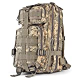 yukon range bag tactical - Flexzion Tactical Backpack (ACU) Outdoor Military Unisex Rucksack Travel Molle Daypack Bag 30 L Capacity 600D Nylon for Camping Hiking Hunt Trekking with Multi Zippered Pocket