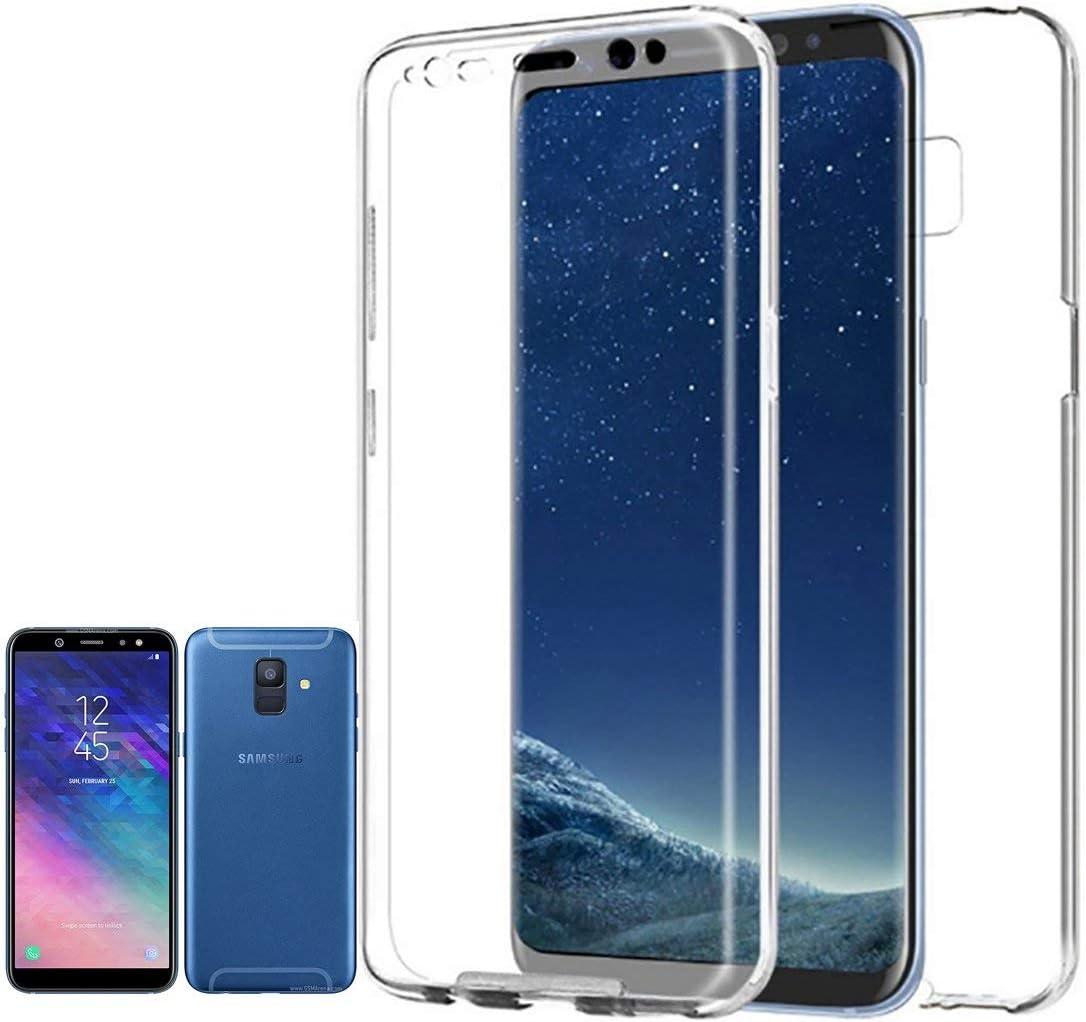 PLANETMOVIL Compatible con Samsung Galaxy A6-5,6 Pulgadas- Funda Carcasa Doble Cara 360 de Silicona Delantera + Trasera TPU rigido Doble 100% Transparente Dos Caras Funda Enteriza y Completa …: Amazon.es: Electrónica