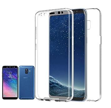 PLANETMOVIL Compatible con Samsung Galaxy A6-5,6 Pulgadas- Funda Carcasa Doble Cara 360 de Silicona Delantera + Trasera TPU rigido Doble 100% ...