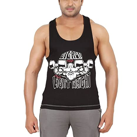 e325b44ad99e2 Ronnie Coleman (Rocclo) Jersey Cotton Fitness Gym Vest Workout Vest Stringer  Gym Vest Racer Back Tank Top Y Back Vest Sports Vest Singlet for Men  ...