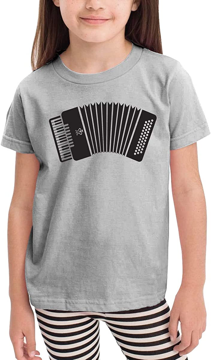 HIGASQ Unisex Baby Accordion O Neck Toddlers Short Sleeve T Shirt for 2-6 Boys Girls