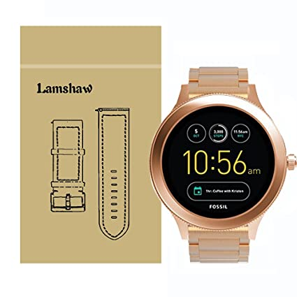 Amazon.com: lamshaw SmartWatch de banda para Fossil Q ...