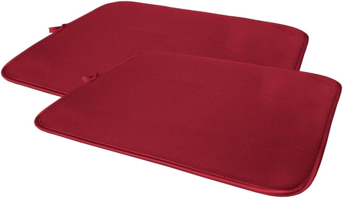 color rojo 40,64/cm x 45,72/cm Cuisinart Ultra absorbente Reversible plato secado alfombrilla 2/unidades 100/% poli/éster