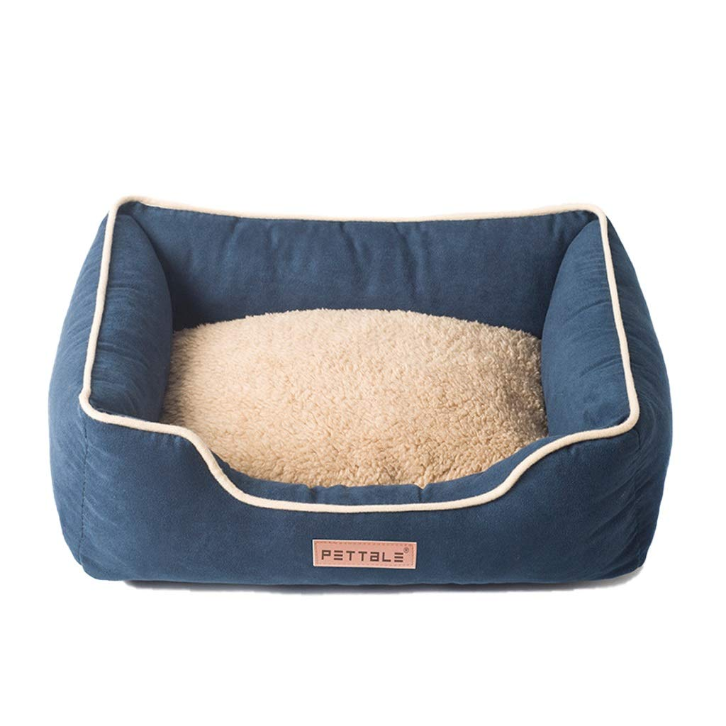 Navy S Navy S YT- Orthopedic Pet Bed for Dogs and Cats, Ultra-Soft Warm Dog Bed Sofa Water Resistant with Removable & Washable Cover (color   Navy, Size   S)
