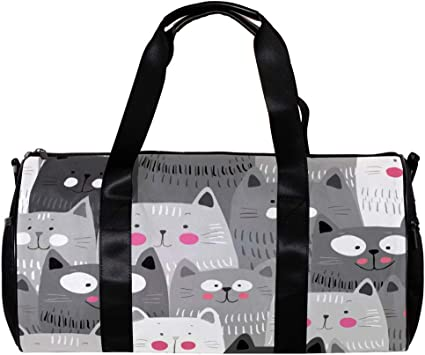 Grey Cat Weekender Bag