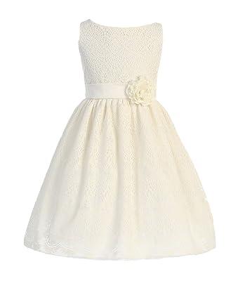0bfc7839e030 Sweet Kids Little Girls  Sweet Vintage Lace Flower Girl Dress 2 Off White  SK 437