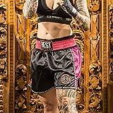 Shorts de Kickboxing Best Defense Preto/Rosa