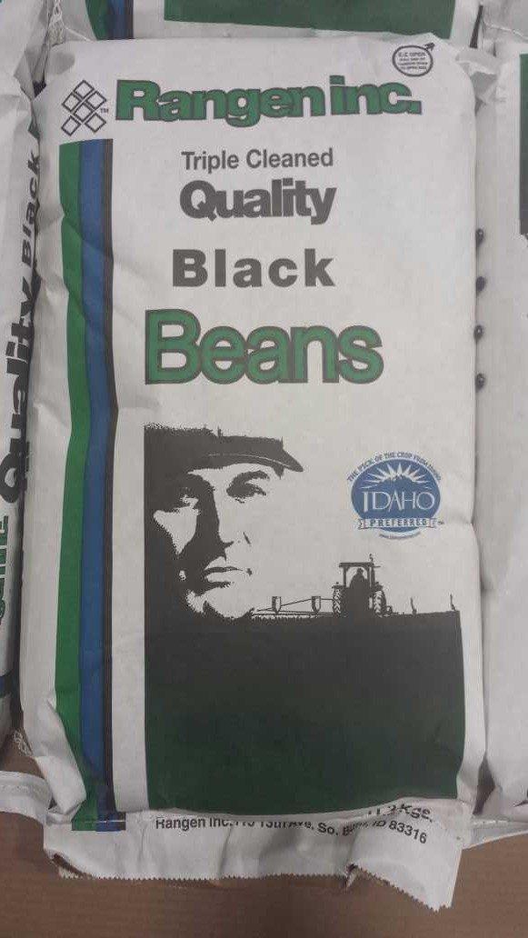 Dried Black Beans- Turtle Beans- 25 lb. Bag