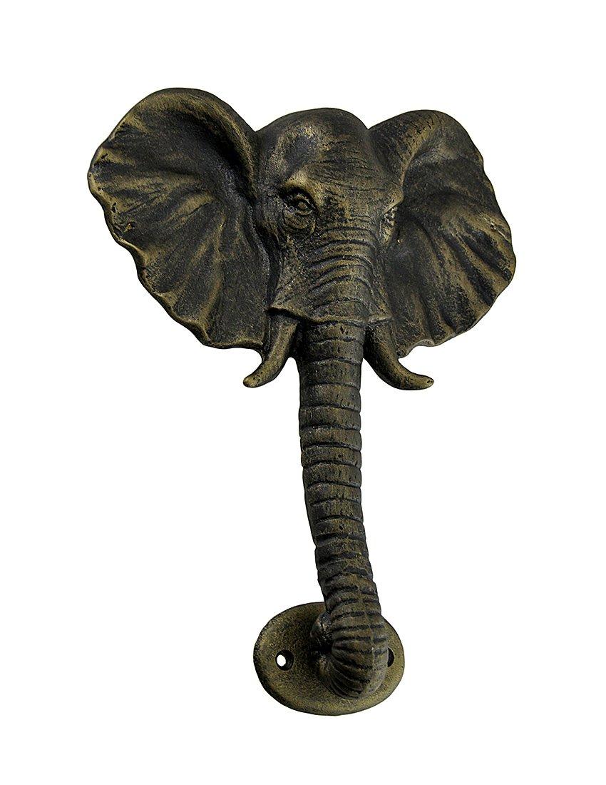 Aluminum Door Knockers Elephant Head Antique Bronze Finish Cast Aluminum Door Knocker 7.5 X 10 X 1.5 Inches Bronze