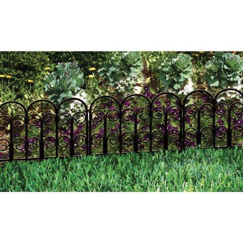 Amazon.com : Origin Point Jasmine Classic Decorative Steel Landscape Border  Fence Section : Garden Border Edging : Garden U0026 Outdoor