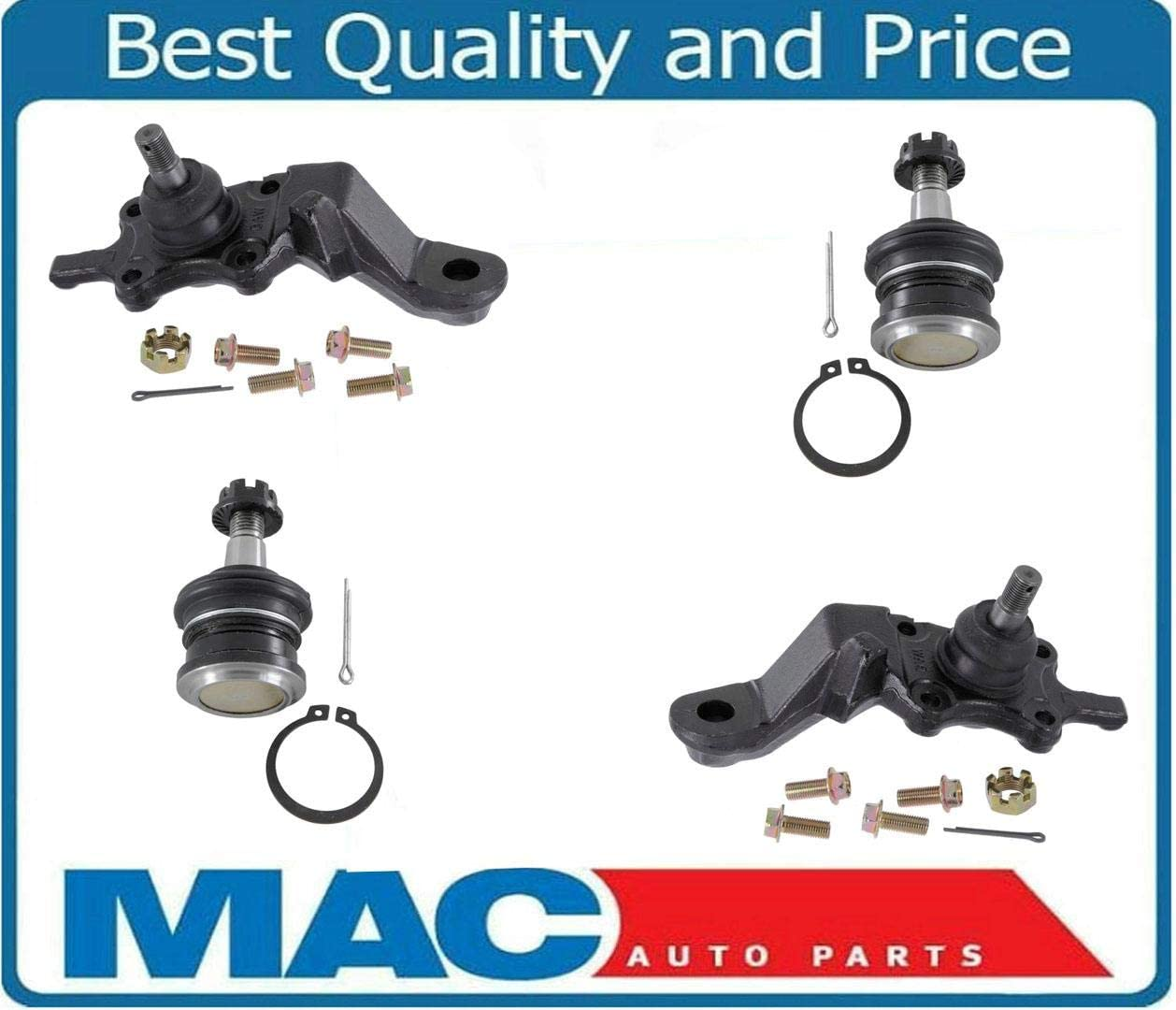 New Front Upper /& Lower Ball Joints fits 95-03 Toyota Tacoma 4 Wheel Drive /& Pre-Runner Rear Wheel Drive