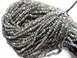Gorgeous Flashy Labradorite Smooth Button/Roundel/Rondelle Gemstone Beads 4-4.5mm AAA 13 Inch And Natural Labradorite Stone