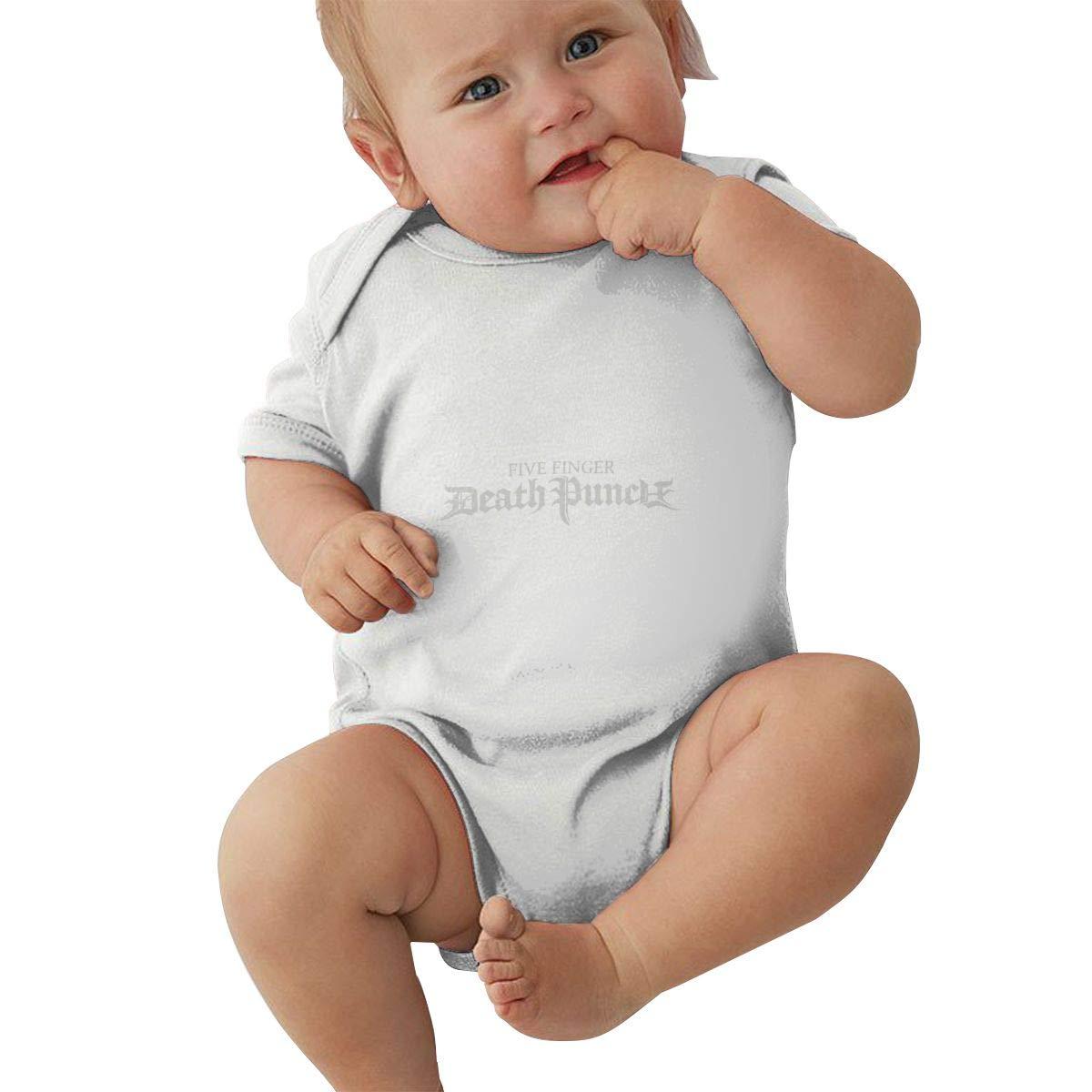 Five Finger Death Punch Unisex Short Sleeve Bodysuit Romper Jumpsuit Outfits for Baby