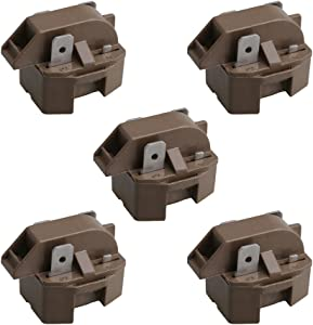 BQLZR 2262185 Refrigerator Freezer Compressor PTC Start Relay Replaces 10097202 WR7X194 5303007173 IC102 66858-1 66857-2 WR7X214 Pack of 5