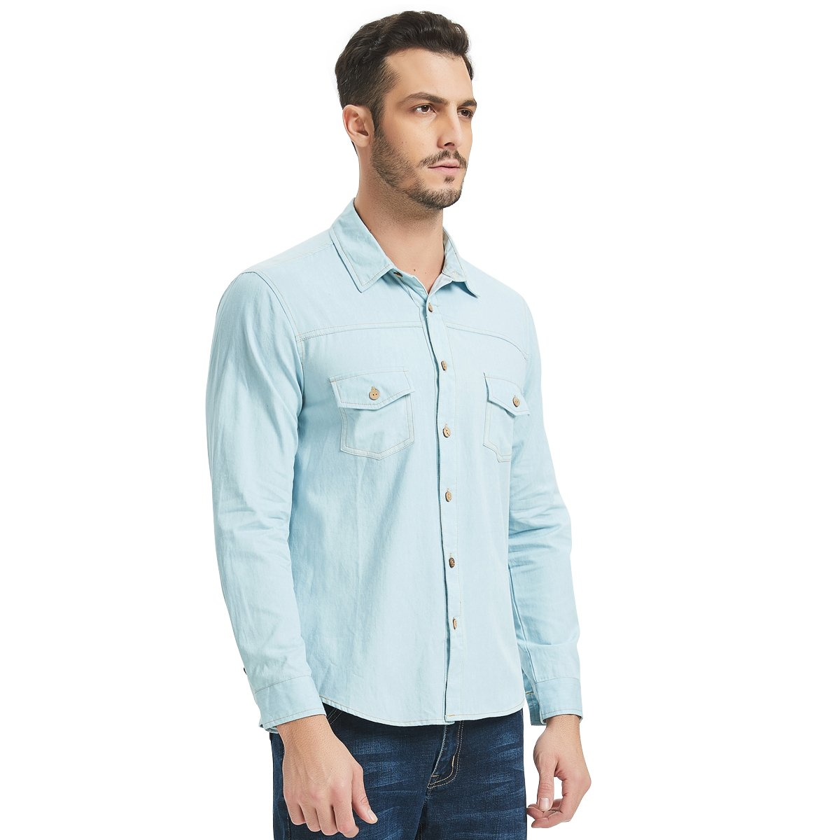 7040f746460 Light Blue Denim Work Shirts – EDGE Engineering and Consulting Limited