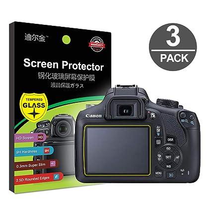 Protector de Pantalla LCD de Vidrio Templado Compatible con Canon ...