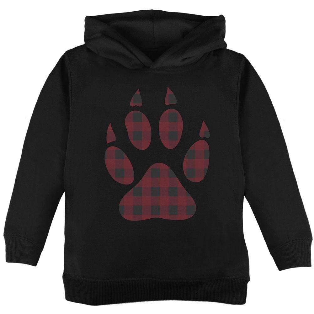 Autumn Buffalo Plaid Bear Claw Paw Toddler Hoodie 00176682