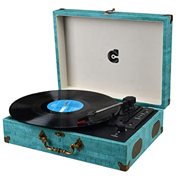 Vinyl Player Turntable Record Player with Speaker LP Turntable Vintage Record Players Suitable Turntable Portable Wireless Record Player Support USB ...