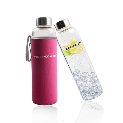 Cristal botellas de agua, botellas de bebidas de cristal victpower ...