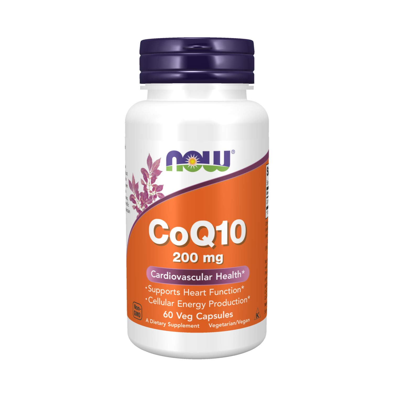 NOW Supplements CoQ10 (Coenzyme Q10) 200 mg Cardiovascular Health, 60 Veg Capsules