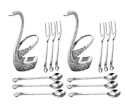 CRIVERS Juego de vajilla de acero inoxidable innovador & Conjunto de tenedor de fruta & Juego