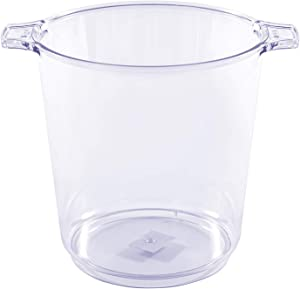 Simply Elegant Premium Heavy Duty Clear Plastic Ice Bucket 1 Gallon Wine Chiller & Party Beverage Container