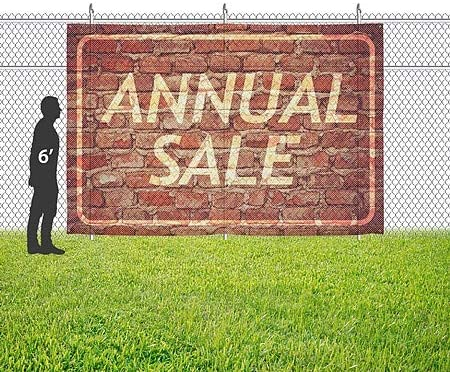 Annual Sale CGSignLab Ghost Aged Brick Wind-Resistant Outdoor Mesh Vinyl Banner 9x6