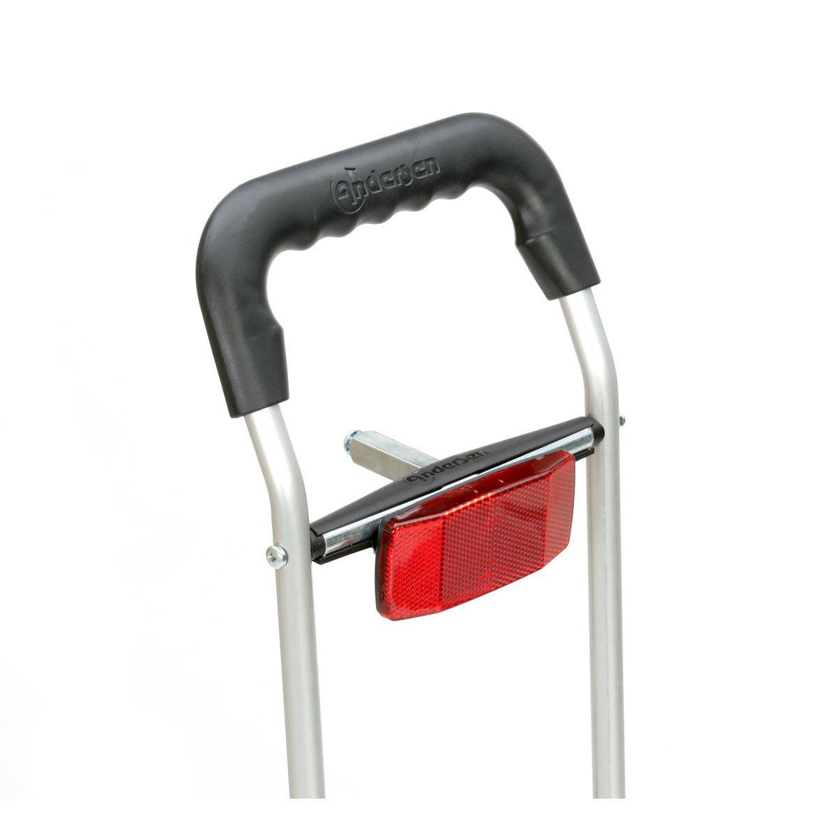 Andersen Chariot de courses Royal Hydro avec roues pneumatiques et attelage de v/élo pour porte-baggage; Sacoche couleur rouge avec compartiment isotherme Offre sp/éciale