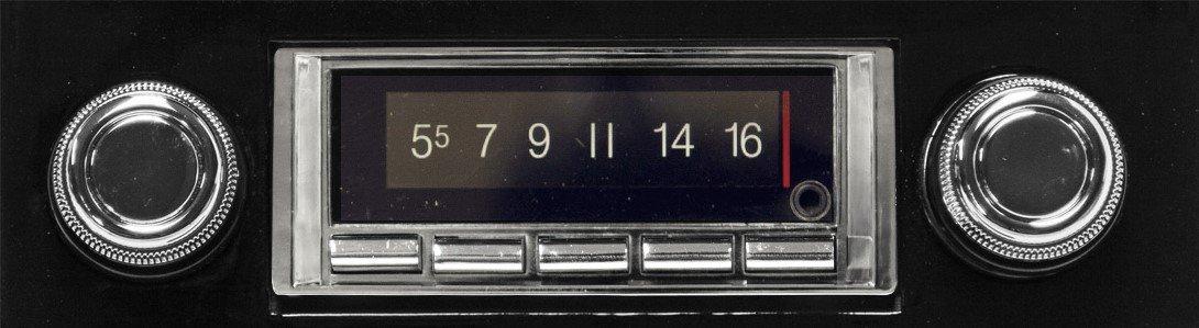 1967-1968 Chevrolet Impala 300 watt Custom Autosound USA-740 AM FM Car Stereo//Radio with built-in Bluetooth Color Change LCD Digital Display # CAM-CAE-67//8-740 AUX Inputs
