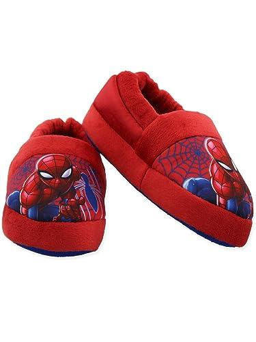 d9d749e374d Spider-Man Toddler Boys Plush Aline Slippers (2-3 M US Little Kid