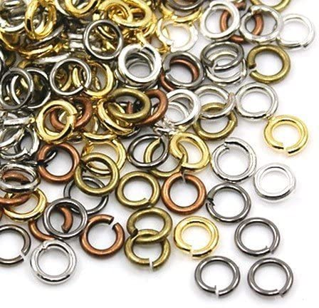 Charming Beads Mixed Plated Iron 0.7 x 4mm Jump Rings Packet of 500 HA11685