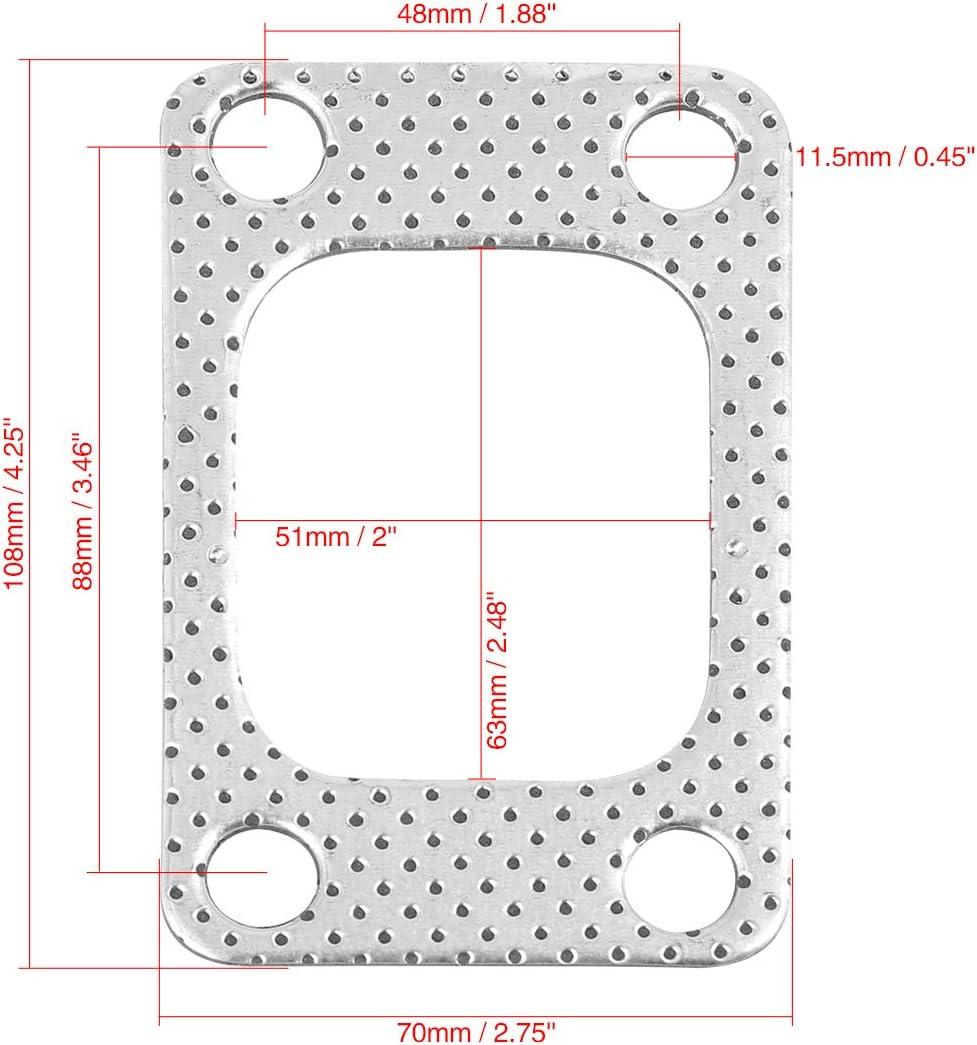 4 Bolzen Metall Ge/ändert Turbolader Dichtung Austausch f/ür T3 X AUTOHAUX 5Stk