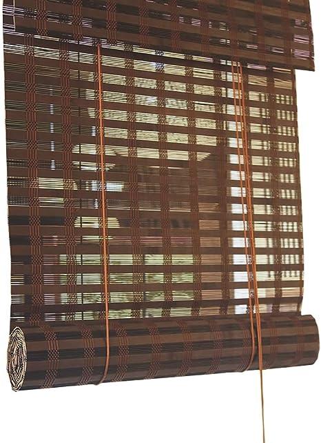 Estor enrollable YXX Persianas de bambú para Ventanas Personalizadas - Sombra Blackout Roller con Cenefa Plana para Puerta de Patio al Aire Libre (Tamaño : 75x110cm): Amazon.es: Hogar