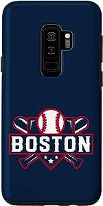 Galaxy S9+ Boston Baseball Home Plate Crossed Bats Case