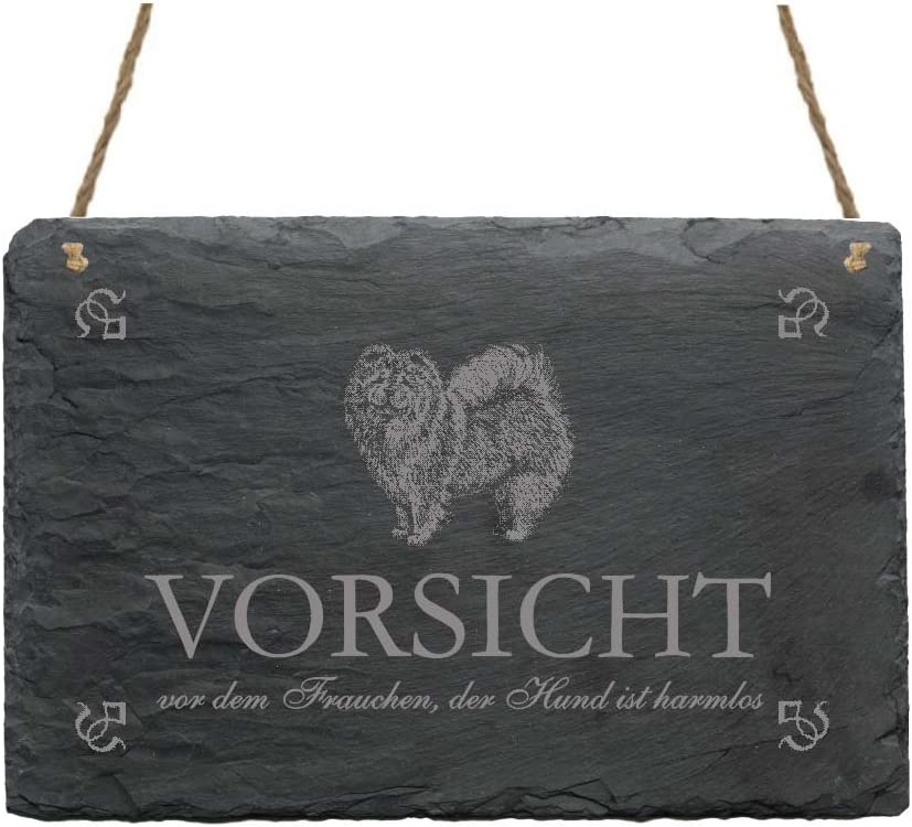 Chow Chow Slate with Desire engraving