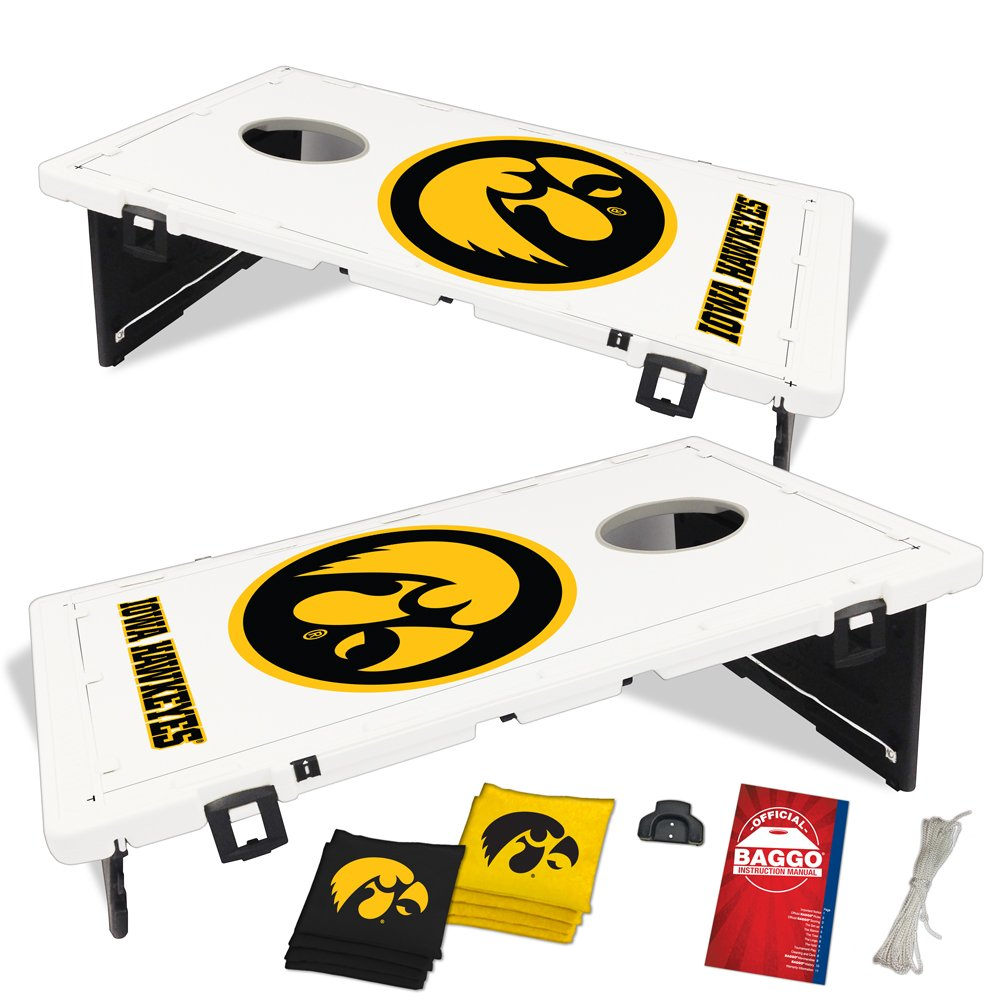 Baggo 1545 University of Iowa Hawkeyes Complete Baggo Bean Bag Toss Game by Baggo (Image #1)
