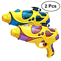 YeahiBaby 2pcs Water Gun Water Blaster Shooter Toys Children Beach Water Toys Funny Baby Gift (Purple+Blue)