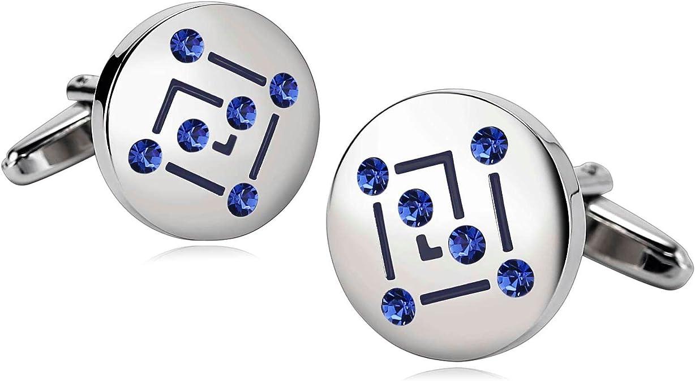 Blisfille 2 Pieza Gemelos Camisa Hombre Acero Gemelos de Numeros Gemelos Camisa Frikis Joyeria para Niños Gemelos de Azul: Amazon.es: Joyería