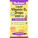 Bluebonnet Earth Sweet Liquid Vitamin D3 5000 IU, 1 Ounce