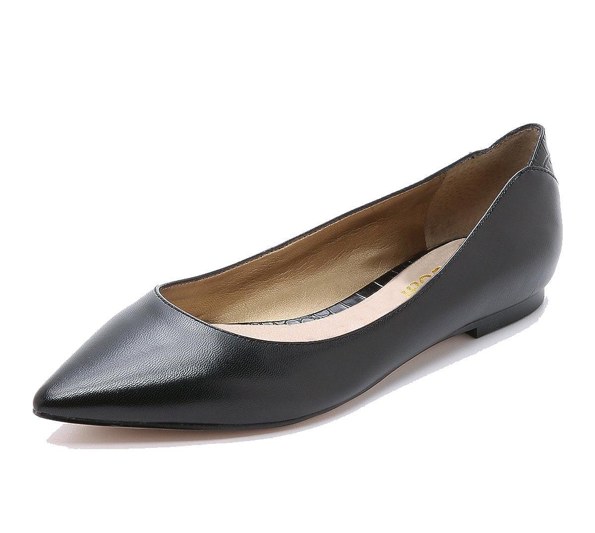 DYF Schuhe Frauen Nackt Schuhe DYF Farbe Größe Scharfe Flache Unterseite Flach Mund Schwarze Streifen 36 ded085