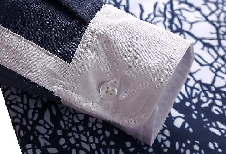 JXG Men Button Front 3D Print Slim Fit Long Sleeve Big /& Tall Shirt