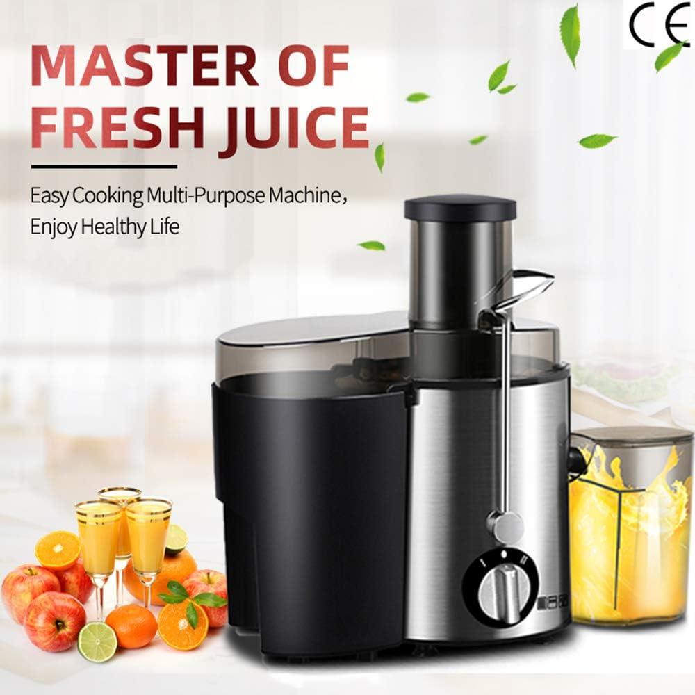 400W de acero inoxidable Exprimidor, eléctrico vegetales de frutas de bebida de la máquina, para el hogar de múltiples funciones Exprimidor Extractor mezclador, Juguera, Licuadora Máquinas: Amazon.es: Hogar