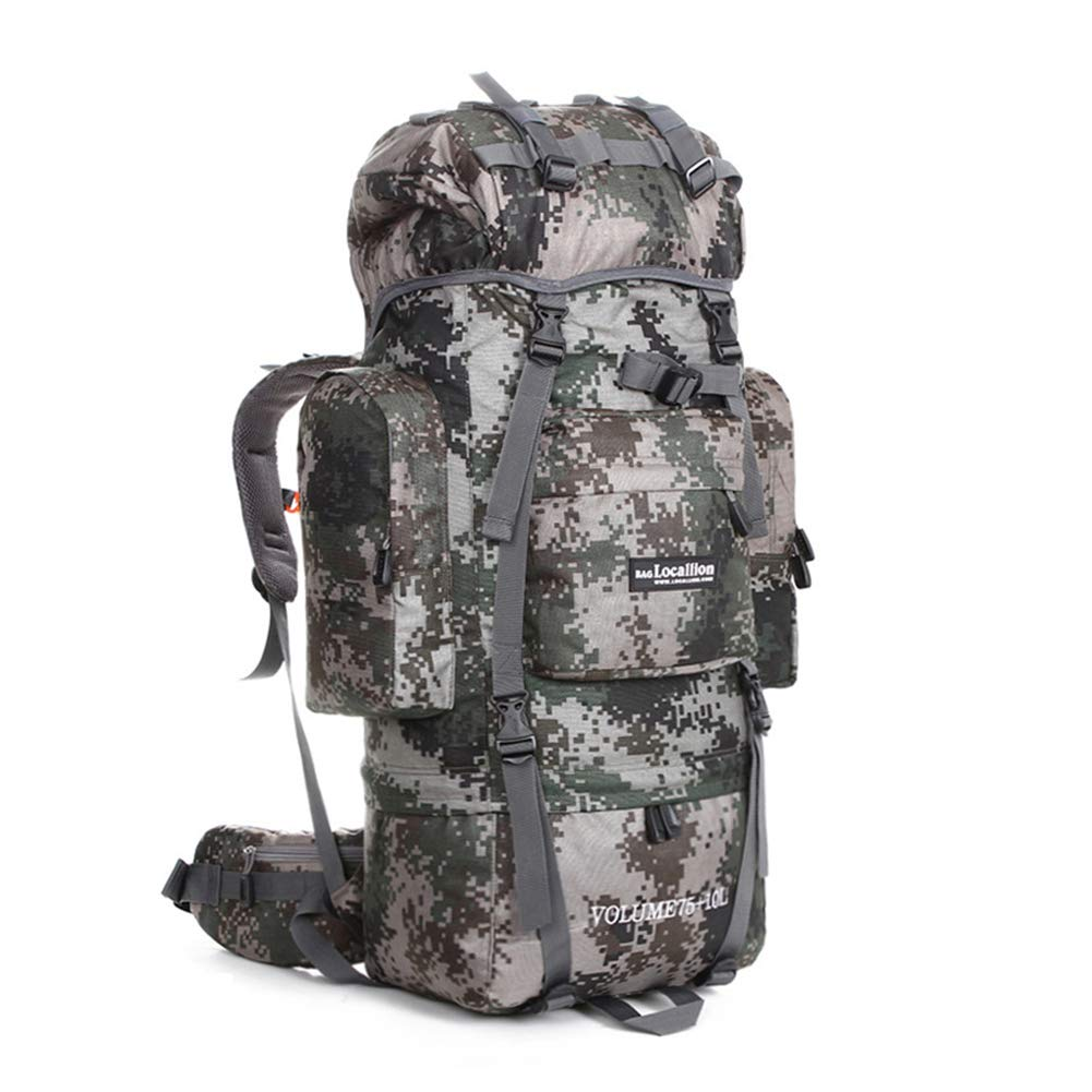 85L バックパック 防水 大容量 レインカバー ザック 学校に行く 長期旅行 防災 災害 B07PKW494K Camouflage